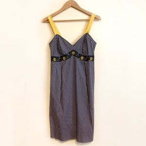 Anthropologie Freesia Pinstripe Cotton Dress